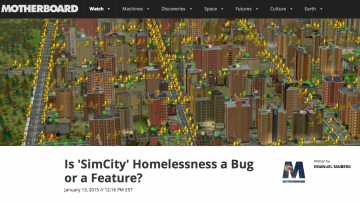 Sim City's Simulacrum of Poverty