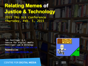 """Conference version of """"Relating Memes of Justice & Technology"""""""